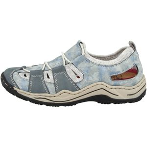 Rieker Damen Slipper Blau, Schuhgröße:EUR 39