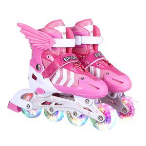 Inline Skates für Kinder Rollschuhe Einstellbare Größe 3337 Mädchen Junge DE