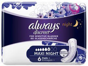 always discreet Inkontinenz-Einlage Maxi Night 6 bei Blasenschwäche 6 Stück