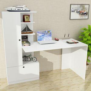 Schreibtisch Domingos Weiß | (B/H/T) 149,5 cm/120 cm/61,8 cm