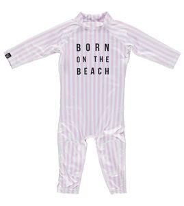 Beach & Bandits - UV-Badeanzug für Babys - Beach Girl - Rosa/Weiss, 68/74