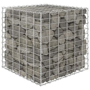 dereoir Würfel-Gabionen-Hochbeet Stahldraht 60x60x60 cm