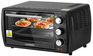 Steinborg Mini Backofen 13 Liter | Pizzaofen | 60°-250°C | Timer | Krümelblech | Minibackofen | Backofen | Kleiner Backofen | 1200 Watt |