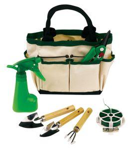 Gartenzubehör Gartenkorb Gartenwerkzeug + Werkzeug Gartenarbeit 7lg Gartenpflege