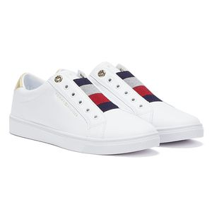 Tommy Hilfiger Elastic Slip Damen Sneaker in Weiß, Größe 38