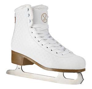 Damen Eiskunstlauf Schlittschuhe Nils Extreme NF14619S Weiß Innenfutter Gr. 40