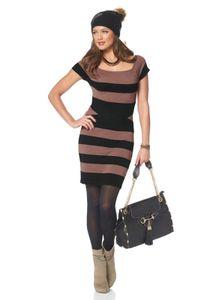 Melrose Damen Strickkleid, coffee-schwarz, Größe:36