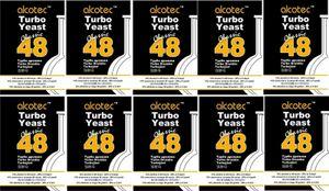 10 x ALCOTEC TURBOHEFE 48H CLASSIC TURBO YEAST HEFE