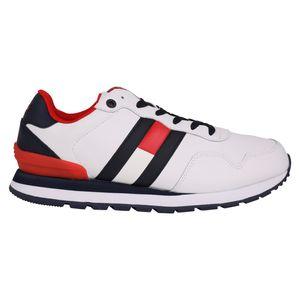 Tommy Hilfiger Color Sneaker Herren Leder Weiß (EM0EM00577YBR) Größe: 44