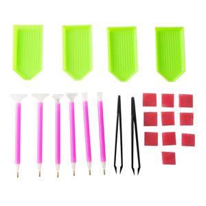 22 Teile / satz Handgemachte Diamant Malwerkzeug Set DIY Zubehoer Diamant Malerei Stickerei Kreuzstich Stift Werkzeuge