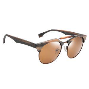 Damen Herren Sonnenbrille UV400 Schutz Polarisierte Bambus Holzbrille 04 wie beschrieben