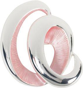 styleBREAKER Damen Magnet Schmuck Brosche in Spiral Form matt schimmernd lackiert für Schals, Tücher, Ponchos 05050106, Farbe:Silber-Rose