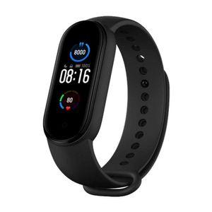 Xiaomi Mi Band 5 Fitness Smart-Armband mit Herzfrequenz-Monitor, 5 ATM, wasserdicht, 14 Tage Akkulaufzeit, 11 Sportmodi, 2,8 cm (1,1 Zoll) AMOLED-Display, Schwarz
