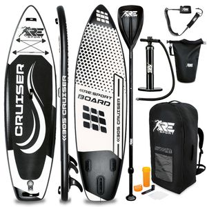 RE:SPORT® SUP Board 305cm Schwarz aufblasbar Stand Up Paddle Set Surfboard Paddling Premium