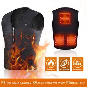 XXXXL Heizweste für Herren Damen, Beheizte Weste Jacke USB Lade Beheizte Kleidung mit Einstellbare Temperatur für Winter Camping Outdoor Wandern Jagd