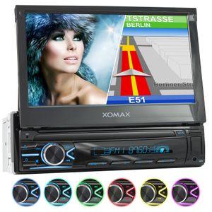 XOMAX XM-VN745 1DIN Navi Autoradio mit GPS, USB und BLUETOOTH