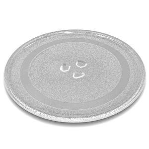 vhbw Glas Mikrowellen-Teller Drehteller 24.5cm mit Y-Aufnahme kompatibel mit Mikrowelle Ersatz für Panasonic Z06016D00XN