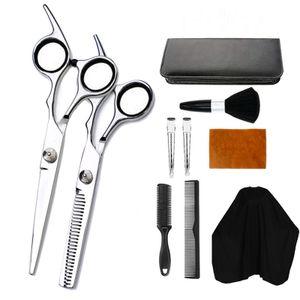 "Professionelle 6.5"" Friseur Haarscheren Effilierschere Friseurschere Haarschneiden Set Schwarz"