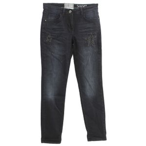 22442 Cecil, Scarlett Tapered,  Damen Jeans Hose, Stretchdenim, darkblue used, W 26 L 30