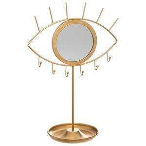 Schmuckständer mit Spiegel EYE, 36 cm, golden - Atmosphera