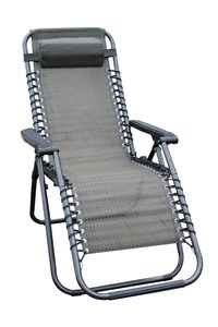 Relax Sessel mit Kopfkissen - 1 Stück - Farbe: taupe