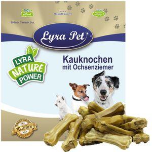 50 Stk. Lyra Pet® Kauknochen mit Ochsenziemerfüllung 10 cm