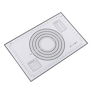 Backmatten Silikon Kuchenteig Kneten Rollen Antihaftfolie 60x40 schwarz Rot schwarz