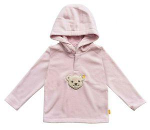 STEIFF® Mädchen Fleece-Sweatshirt 'Quietsch Bär', Größe:98, Präzise Farbe:Rosa