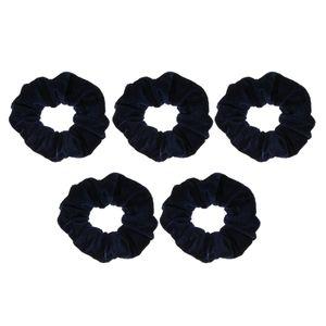 5 Stück Samt Haar Haargummis elastischen Haarband weichen Bobble Haargummis Marineblau Jahrgang Scrunchie Navy blau wie beschrieben