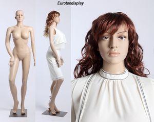 SF-24 Schaufensterpuppe weiblich mit 2 Perücken gratis. große Brüste. Frau in Hautfarbe