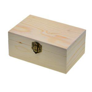 Unvollendete Rechteckig Form Holzkiste mit Deckel für Schmuck Schmuckkasten Holzkästchen Schmuckkästchen Holzschatulle Holzbox