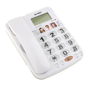 Schnurtelefon FSK/DTMF Anruferanzeige Tischtelefon Bürotelefon Freisprechen Weiß 210x160x65mm Schnurgebundenes Telefon