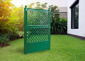 KHW Spalier (2-tlg.) 100 cm mit Erdspieß 2er-Set grün