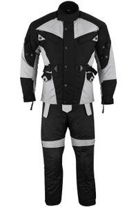 2-teiler Motorradkombi Cordura Textilien Motorradjacke + Motorradhose, Größe:52/L