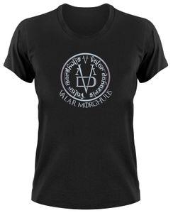 Styletex23 T-Shirt Valar Morghulis GoT, All Men Must Die, Damen schwarz, L