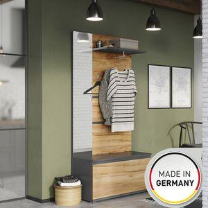 Garderobe Schuhschrank Wandgarderobe Kleiderstange Ablage 96 x 196 x 40 cm