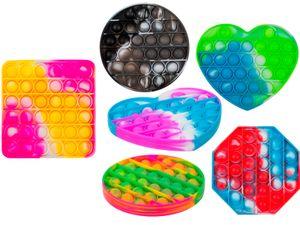 Fidget Pop Toy diverse Formen und Farben Anti Stress Bubble Pop Trend Push it