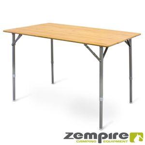 XXL Design Campingtisch Bambusplatte + integriertem Flaschenöffner Zempire ZE-0170505
