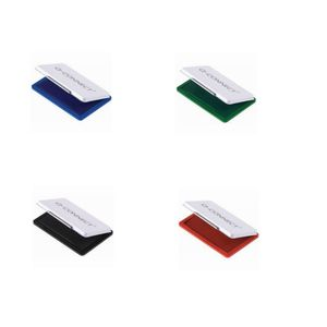 Stempelkissen Q-Connect, 9x5,5cm 4 Farben, schwarz/blau/rot/grün