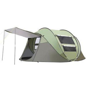 Meco 3-4 Personen Wurfzelt Quick-up Zelt Automatikzelt Familienzelt Campingzelt