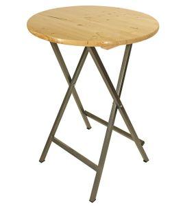 DEGAMO Stehtisch Stehbiertisch Partytisch Bartisch ZÜRICH in stabiler Ausführung, 78cm Durchmesser, klappbar.  Metall + Holz lackiert