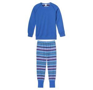 Schiesser  - Mädchen-Pyjama Royal-Blau Gr. 140