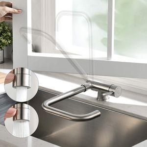 Küche Wasserhahn, 360° Falten Drehbar Küchenarmatur, Vorfenster Armatur,  unterfenster Armatur Spültischarmatur