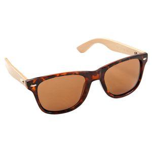 ECENCE Bambus Holz Sonnenbrille Damen Herren Unisex Accessoires Nerdbrille Fashion schwarz blau Sonn