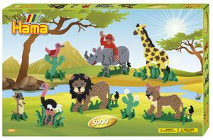 "Hama Bügelperlen midi ""Safari"" Geschenkpackung 5,0 mm 5.000 Bügelperlen"