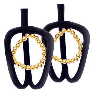 Frauen Soft C String Thong Unsichtbare Panty Unterwäsche Höschen 2x Gold wie beschrieben
