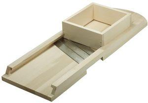 Hofmeister Holzwaren Krauthobel, einfach, rund, 3 Messer und Schublade, Länge: 670 mm, aus Buchenholz