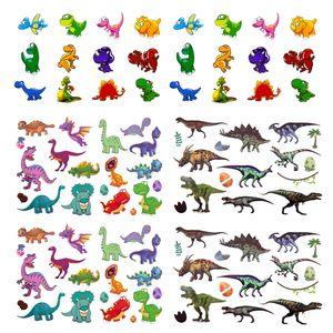 Oblique Unique Dino Kinder Tattoo Set 94 Stück Dinosaurier Tattoos zum Spielen für Jungs zum Kindergeburtstag