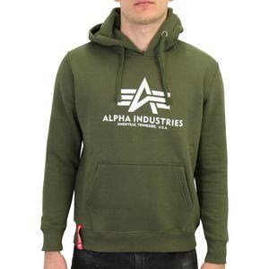 Alpha Industries Basic Hoodie Kapuzenpullover Herren Grün (178312 257) Größe: L (50-52)
