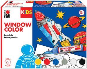 "Marabu KiDS Window Color-Set ""WELTALL"" 6 x 25 ml Fenstermalfarbe für Kinder"